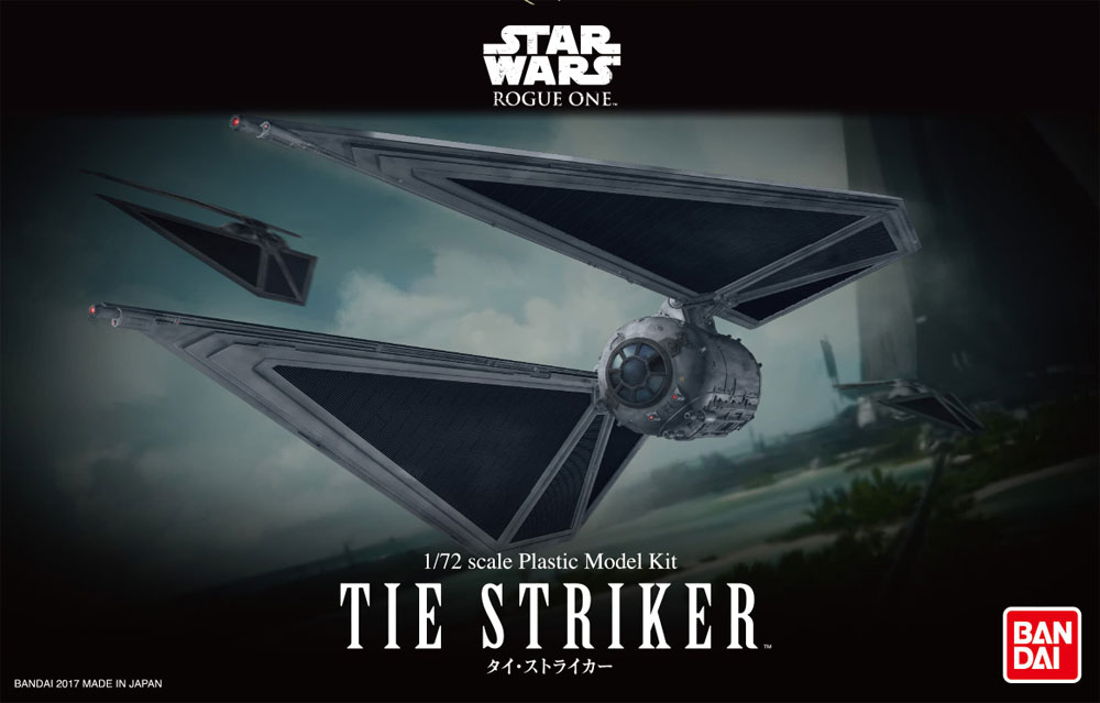 Star Wars Rogue One Tie Striker 1/72 Scale Model Kit by Bandai Japan