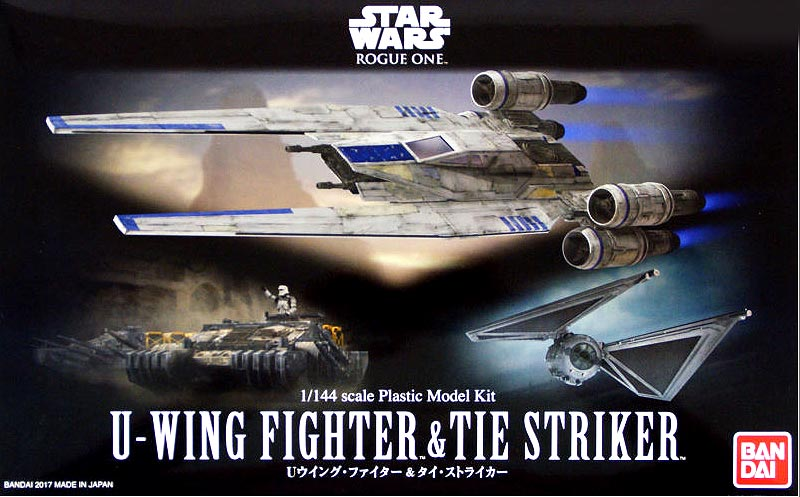 Star Wars Rogue One U-Wing and Tie Striker 1/144 Scale Model Kit by Bandai Japan