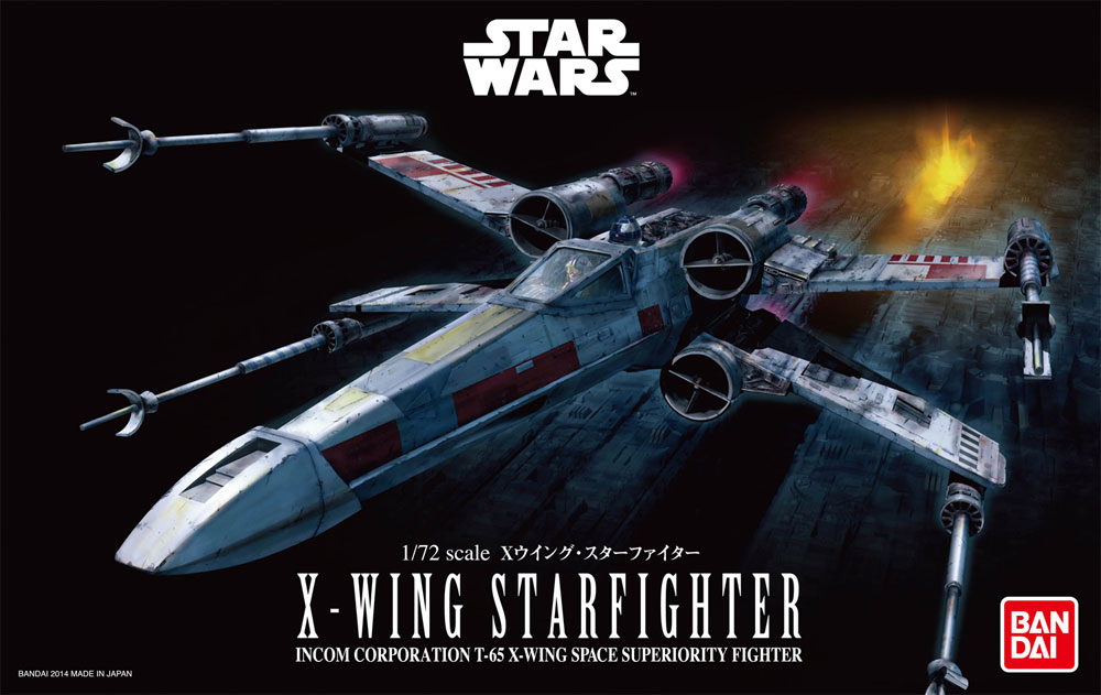 Star Wars X-Wing 1/72 Scale Model Kit from Bandai