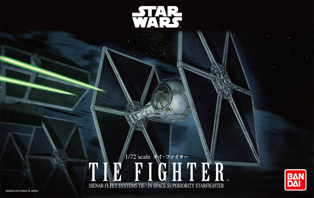Star Wars Tie Fighter 1/72 Scale Model Kit by Bandai
