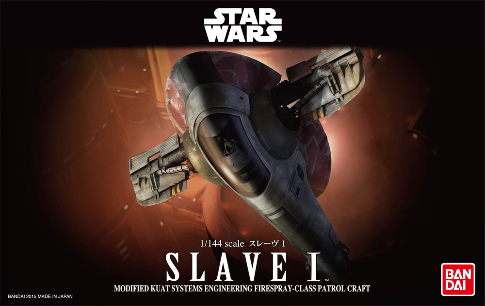 Star Wars Boba Fett Slave 1 1/144 Scale Model Kit by Bandai