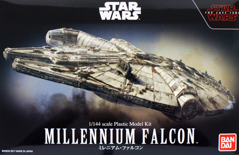 Star Wars The Last Jedi Millennium Falcon 1/144 Scale Model Kit by Bandai