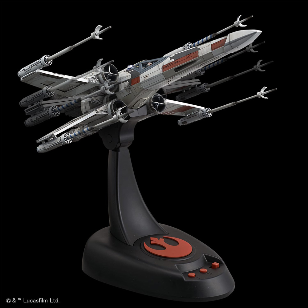 Star Wars Model Kit X-Wing Starfighter 1//48 Moving Edition Bandai From Japan