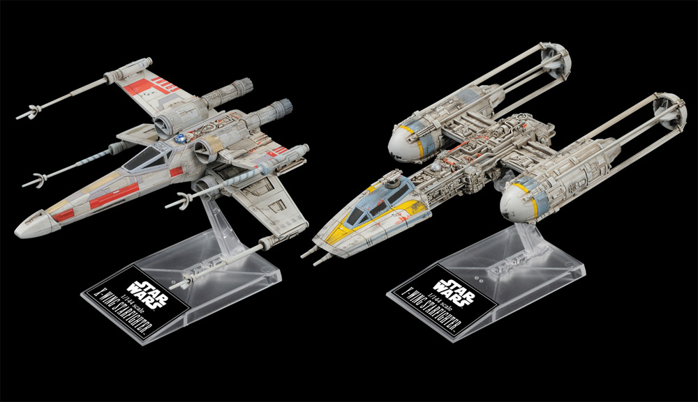 Star Wars X-Wing and Y-Wing 1/144 Scale Model Kit by Bandai