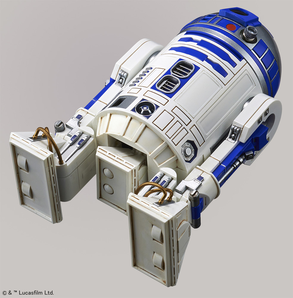 Star Wars BB8 and R2-D2 1/12 Scale Model Kit by Bandai