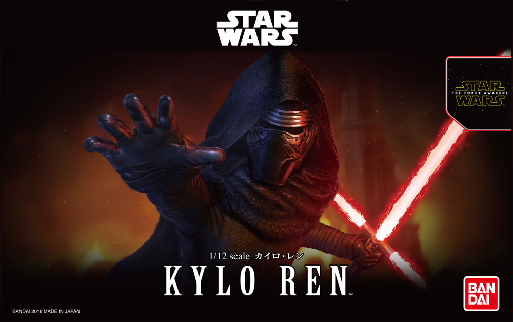 Star Wars Kylo Ren 1/12 Scale Model Kit by Bandai