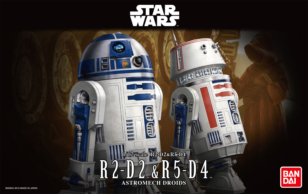 Star Wars R5-D4 and R2-D2 1/12 Scale Model Kit by Bandai