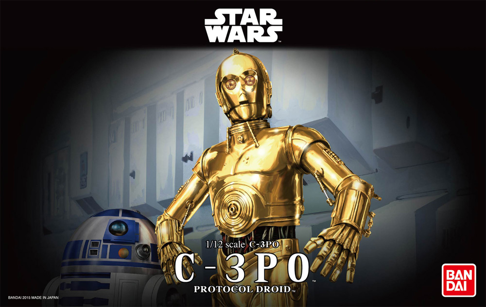 Star Wars C-3PO 1/12 Scale Model Kit by Bandai