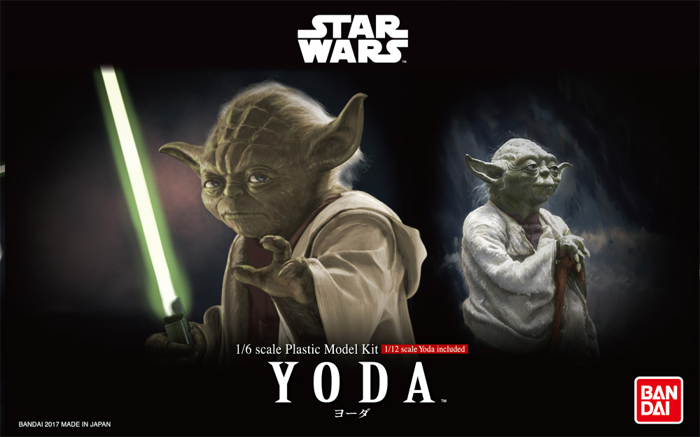 Star Wars Yoda 1/6 and 1/12 Scale Model Kit by Bandai