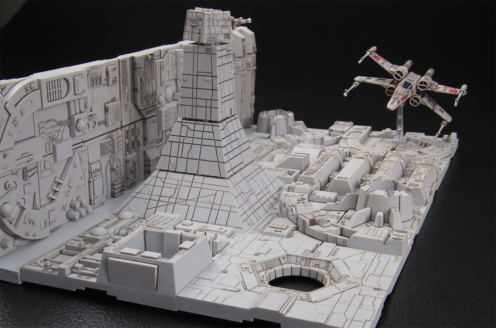 Star Wars Death Star Attack Set 1/144 Scale Model Kit - Click Image to Close