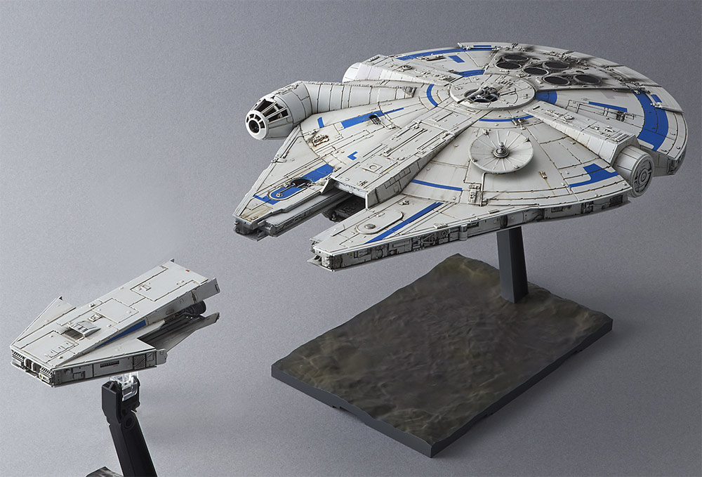 Star Wars Solo Millennium Falcon Lando Calrissian Version 1/144 Model Kit by Bandai Japan