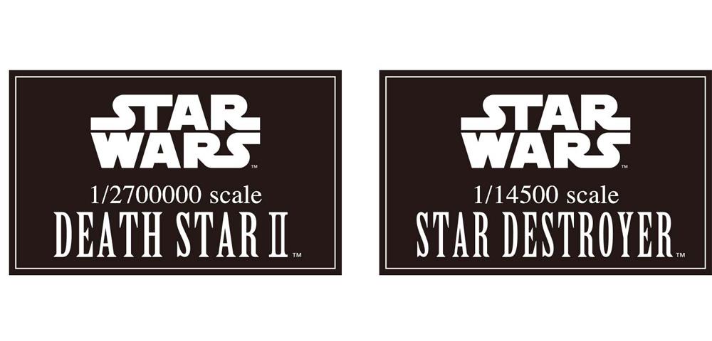 Star Wars Death Star II 1/2,700,000 Scale & Star Destroyer 1