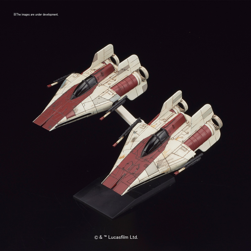 Star Wars A-Wing Starfighter 1/144 Scale Model Kit by Bandai