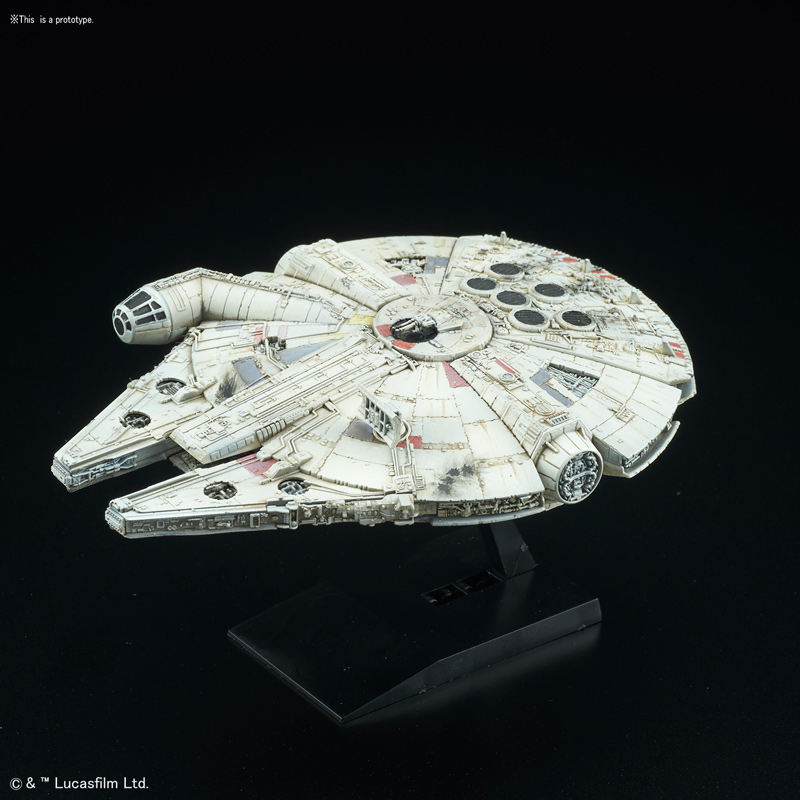 Star Wars Millennium Falcon 1/350 Scale Model Kit by Bandai