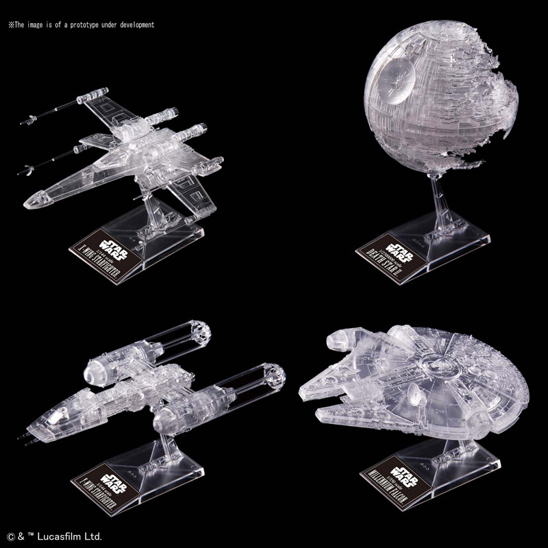 Star Wars Return of the Jedi Clear Vehicle Set Model Kit by Bandai Spirits VM Japan