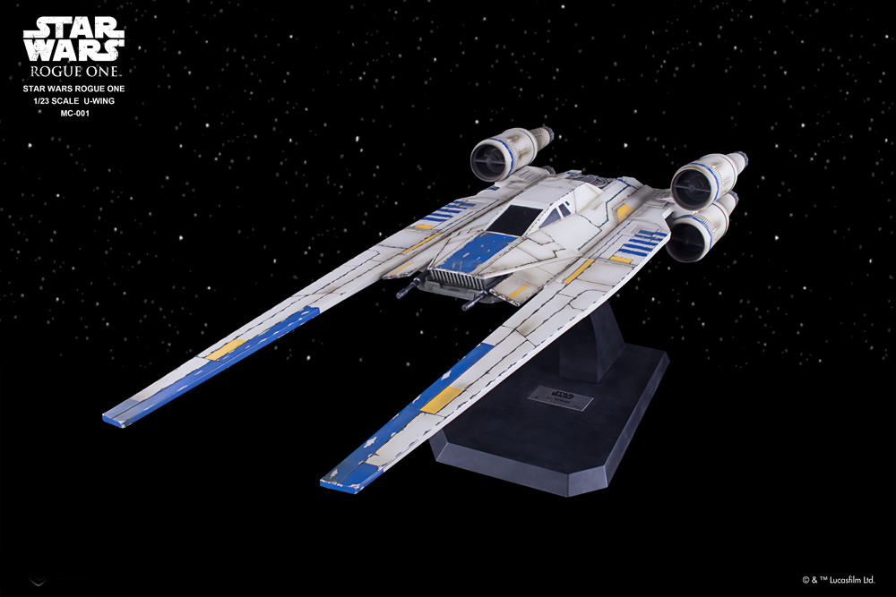 Star Wars Rogue One Rebel U-Wing Fighter 1/23 Scale Giant 4 Foot Long Master Craft Model Kit by Beast Kingdom