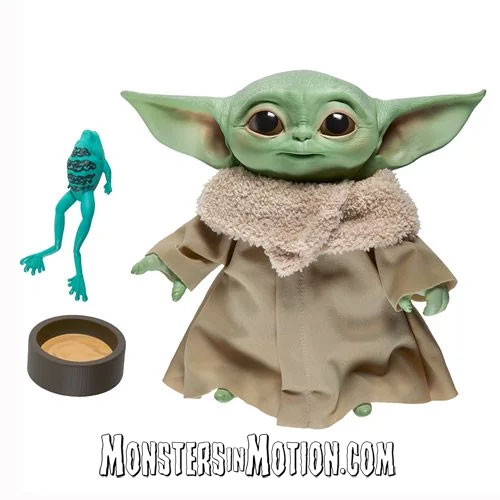 Star Wars The Mandalorian The Child Grogu 7 1/2-Inch Electronic Plush Toy Baby Yoda