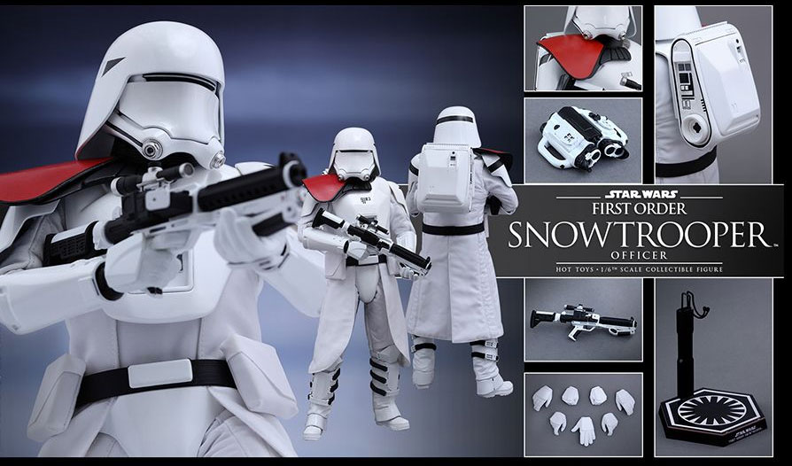 Star Wars The Force Awakens First Order Snowtrooper Officer 1/6 Scale Figure by Hot Toys - Click Image to Close