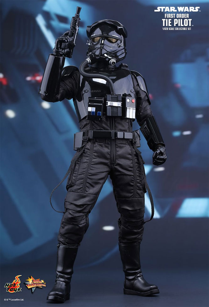 Star Wars The Force Awakens First Order TIE Pilot 1/6 Scale Figure by Hot Toys