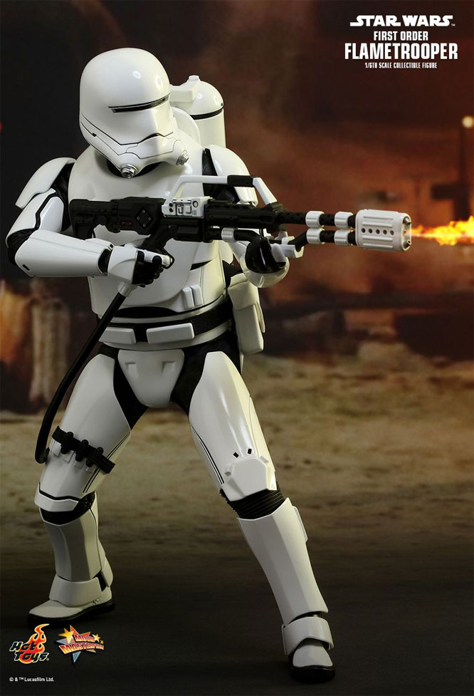 Star Wars The Force Awakens Flametrooper 1/6 Scale Figure by Hot Toys