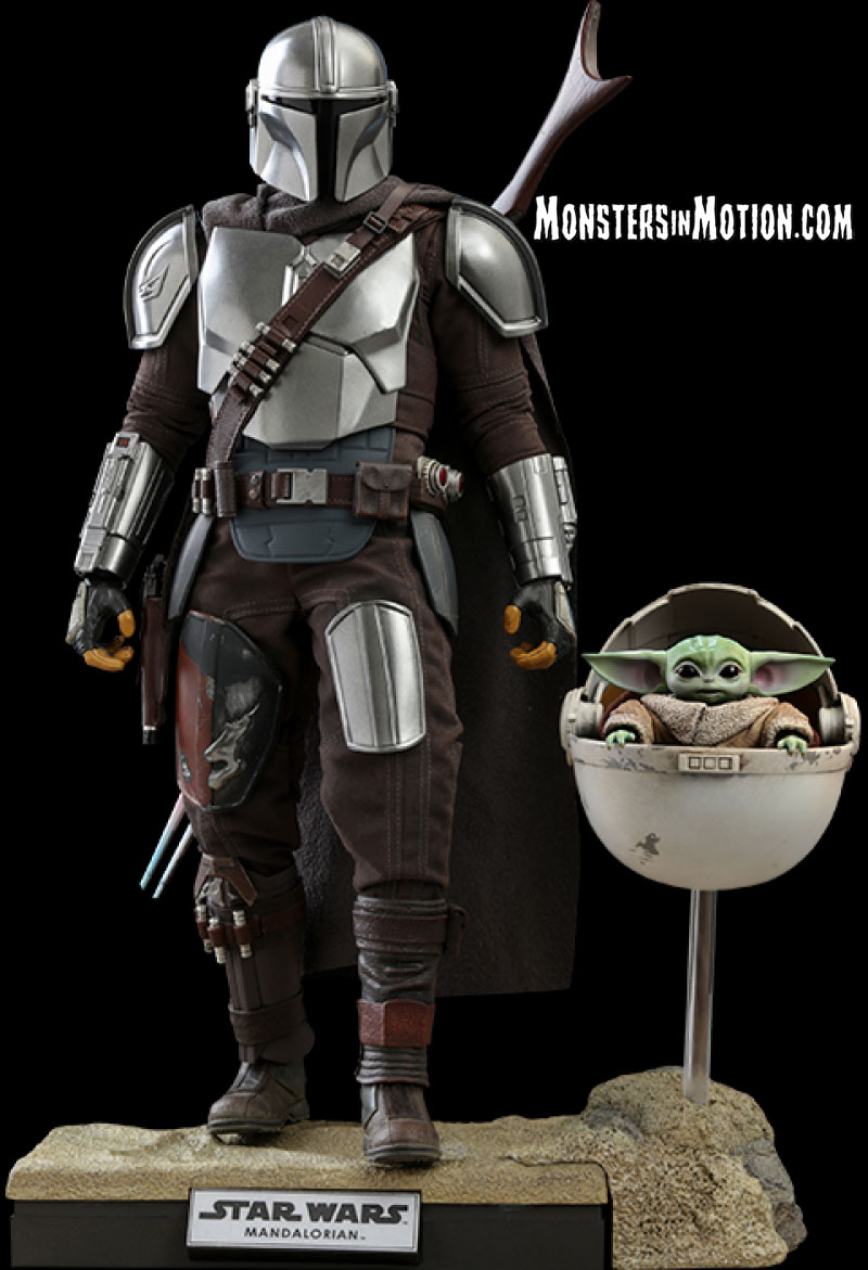Star Wars Mandalorian The Mandalorian and The Child 1/6 Deluxe Figure Set by Hot Toys