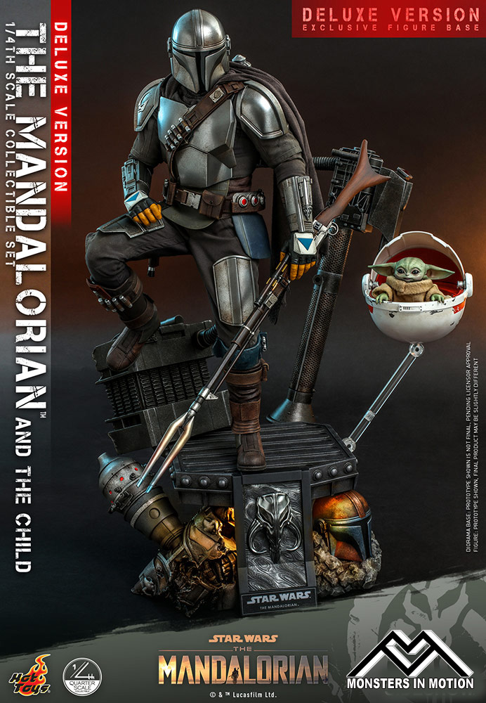 Star Wars Mandalorian and Child Deluxe 1/4 Scale Figure Collector's set by Hot Toys