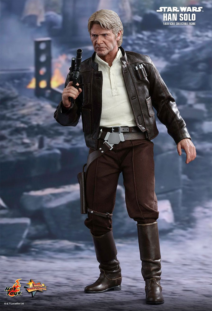 Star Wars The Force Awakens General Han Solo 1/6 Scale Figure by Hot Toys