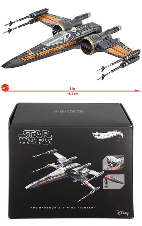Star Wars The Force Awakens Poe Dameron's X-Wing Hot Wheels Elite Die-Cast Vehicle