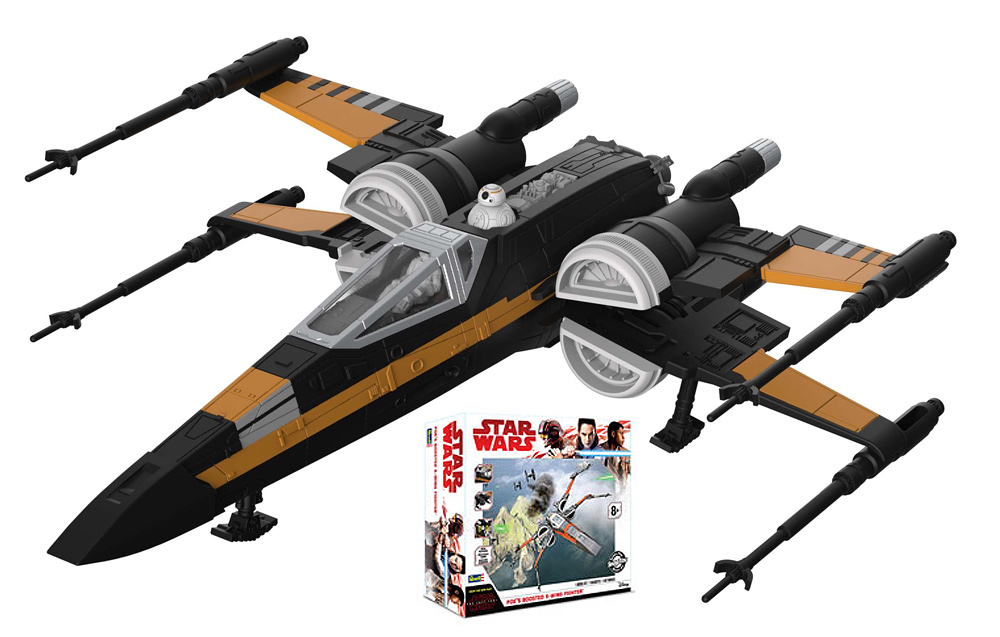 Star Wars The Last Jedi Poe's Boosted X-Wing Fighter Model Kit