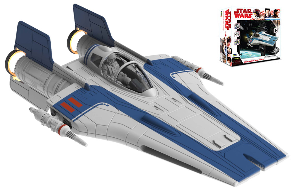 Star Wars The Last Jedi Resistance A-Wing Fighter Model Kit