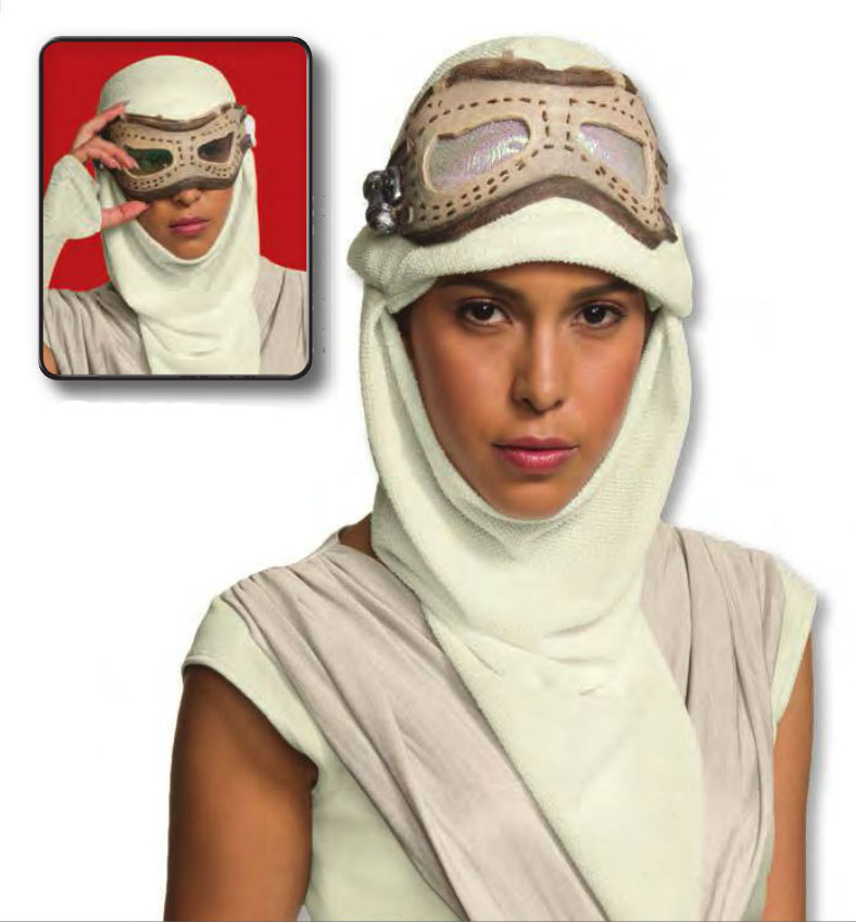 Star Wars The Force Awakens Rey Hero Adult Mask and Hood