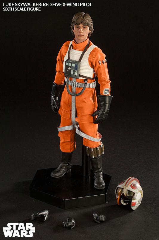 Star Wars Luke Skywalker Red Five X-Wing Pilot 1/6 Scale Figure by Sideshow