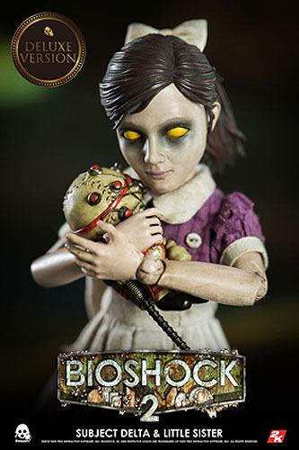 Bioshock 2 Subject Delta with Little Sister and Big Daddy 1