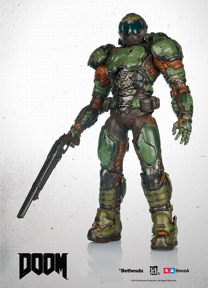 Doom Video Game Marine 1/6 Scale Figure by Three A
