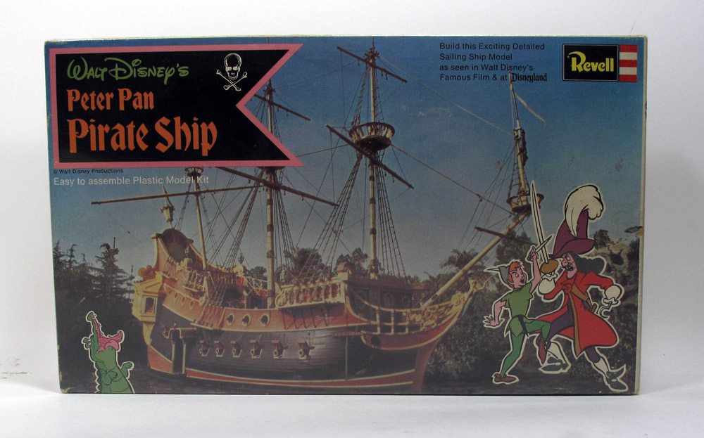 Disney Peter Pan Pirate Ship Vintage Revell Model Kit Sealed FREE US SHIPPING