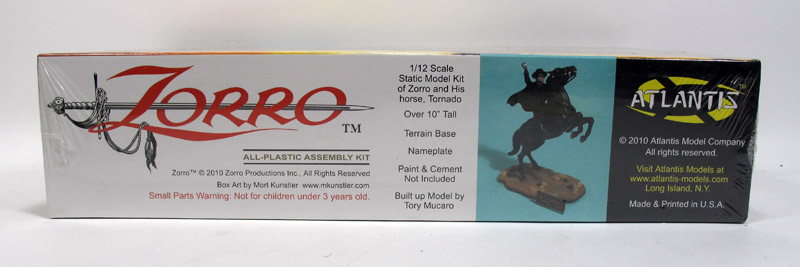 Zorro 1/12 Scale Model Kit by Atlantis