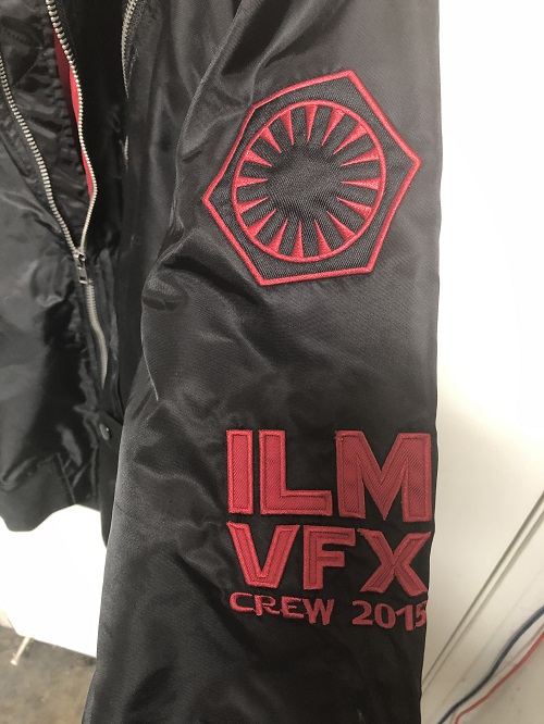 Star Wars Episode VII The Force Awakens Industrial Light and Magic Studio Crew Jacket