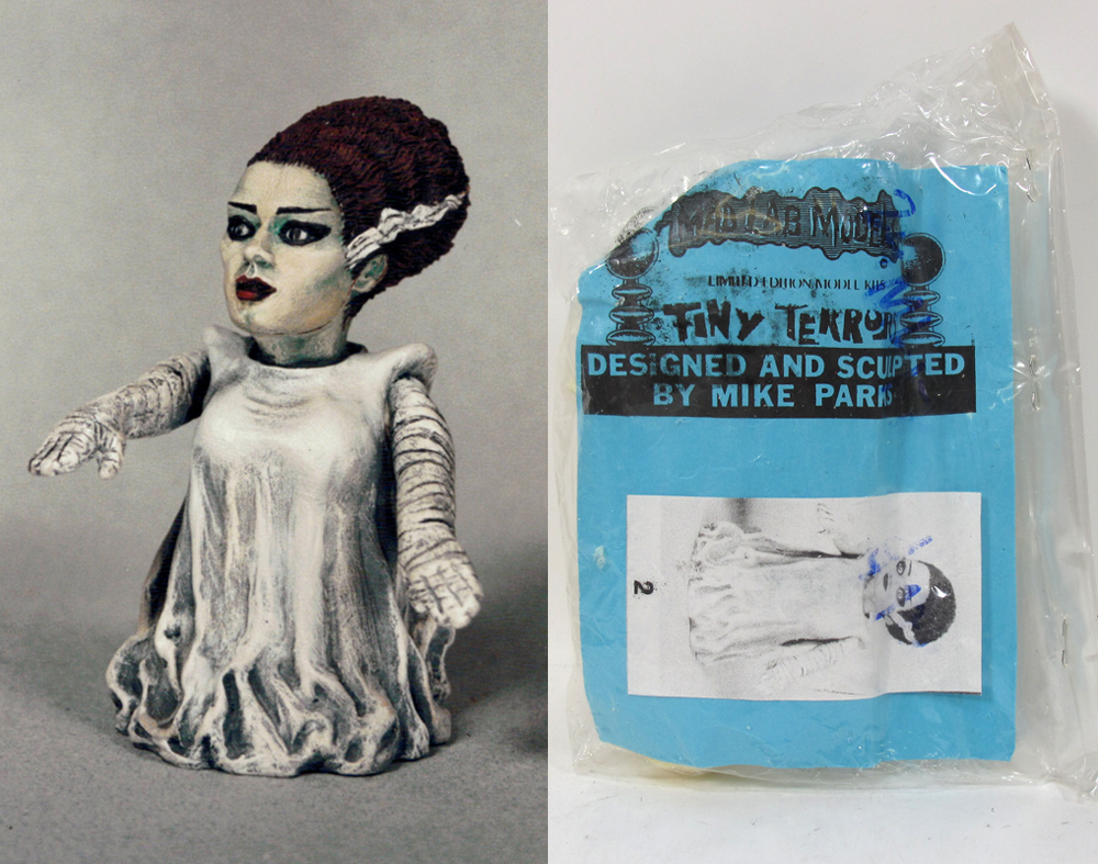 Bride of Frankenstein Tiny Terrors Model Kit by Mad Labs Mike Parks