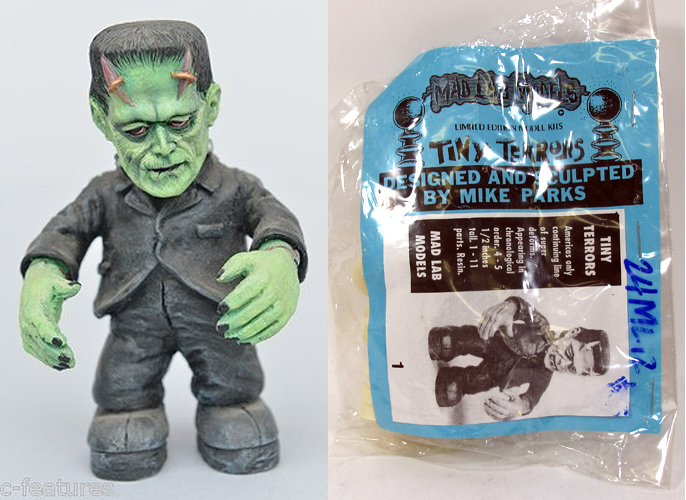 Frankenstein Tiny Terrors Model Kit by Mad Labs Mike Parks