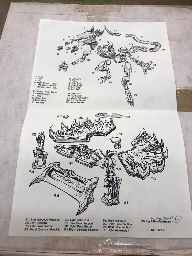 Xenomorphus Rex Model Kit by Paul Komodo Netherworlds-ULTRA RARE - Click Image to Close