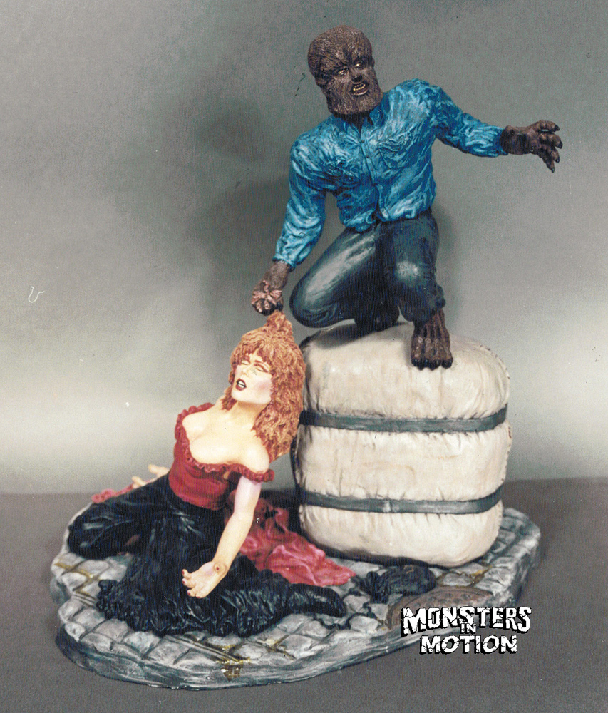 Wolfman with Victim 1/6 Scale Model Kit by Mad Labs