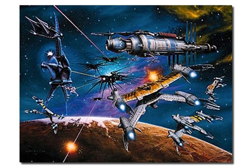 Babylon 5 War Without End Limited Edition Fine Art Print Lithograph by James Cukr