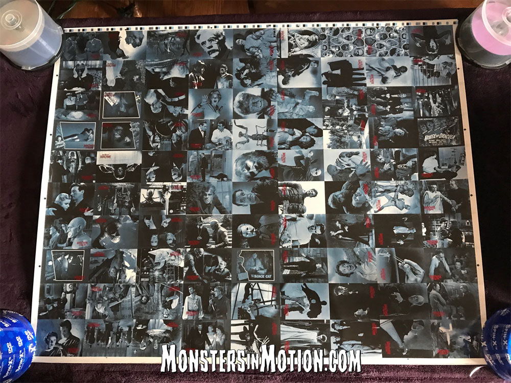 Universal Monsters 90 Uncut Trading Card Sheet from 1996