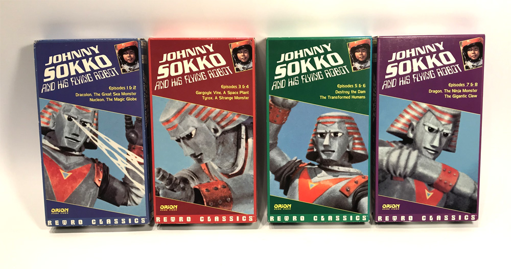 Johnny Sokko and His Flying Robot 4 VHS Collection Giant Robot