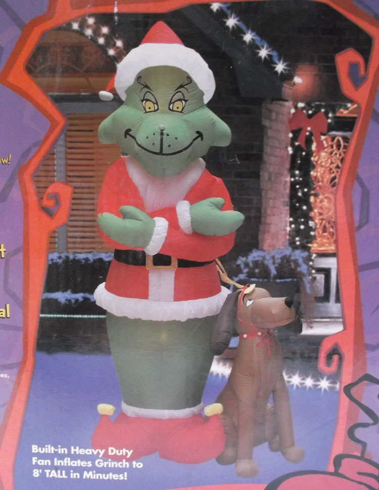 Grinch with Dog Dr. Seuss Inflatable Holiday Decoration