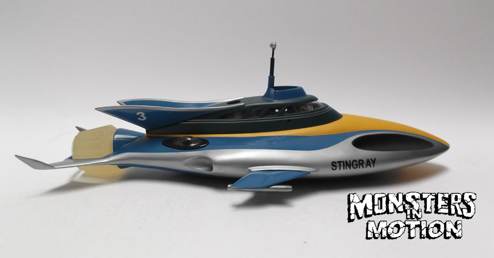 "Stingray Submarine 21"" Long Finished Model Display with Interior"