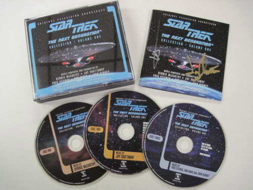 Star Trek The Next Generation Collection Volume 1 Soundtrack CD Autographed by Dennis McCarthy and Jay Chattaway