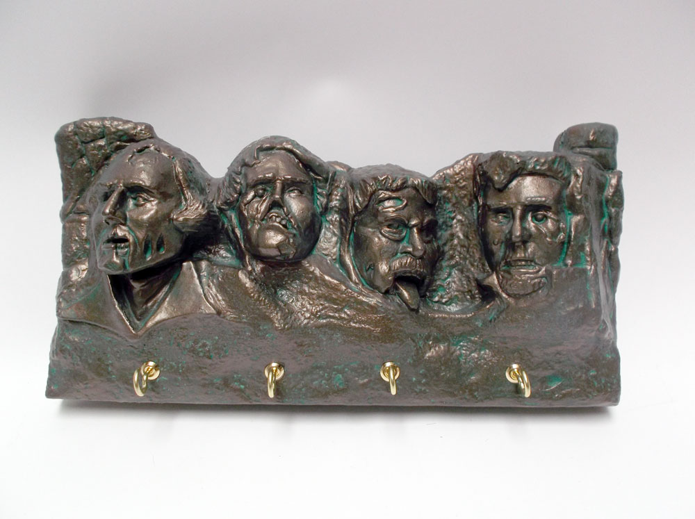 Zombie Mt. Rushmore Wall Plaque Key and Letter Holder