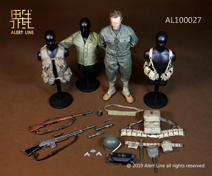 WWII U S  Army Soldier Uniform 1/6 Scale Figure Clothes and
