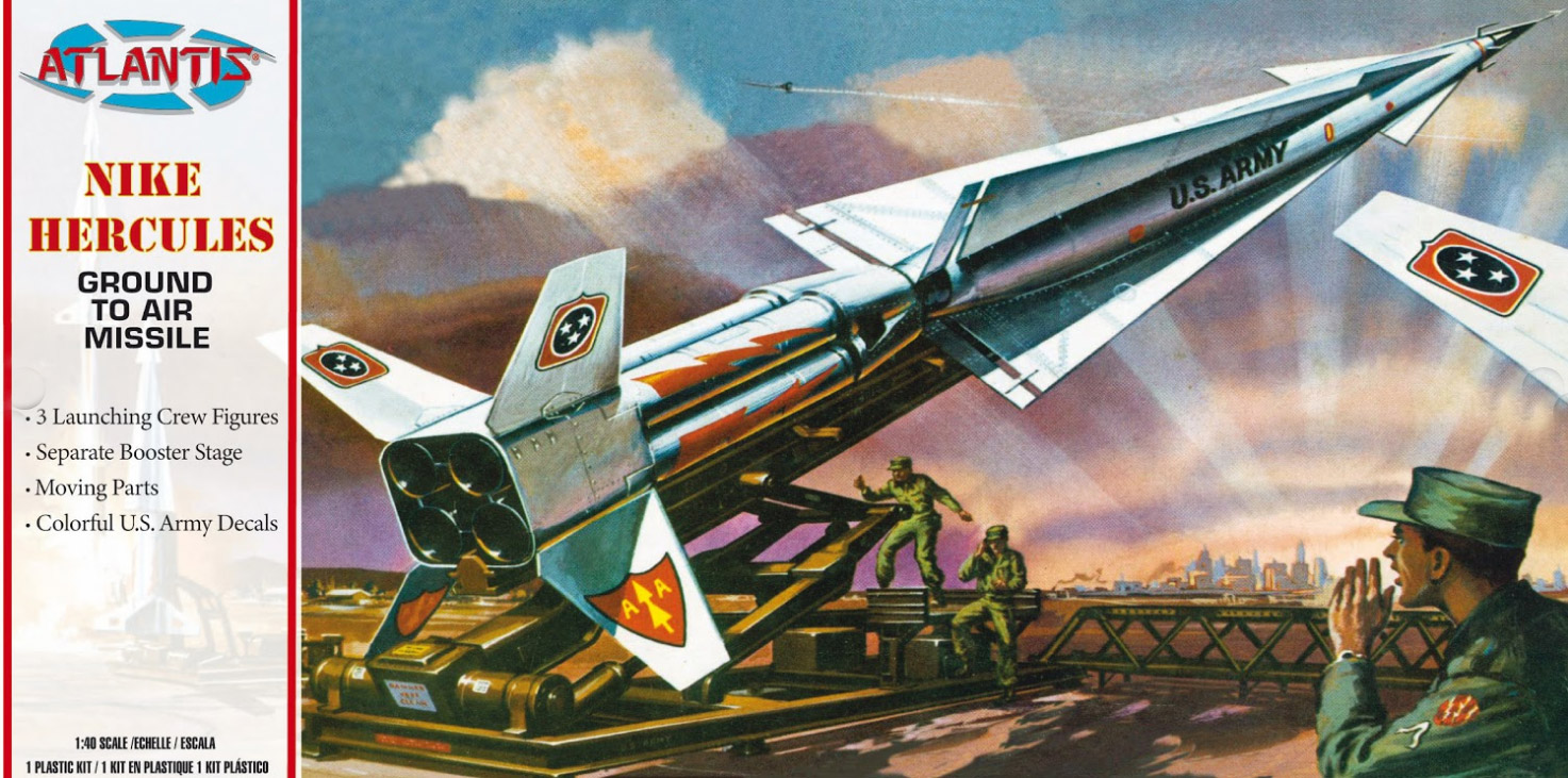 Boeing Nike Hercules Missile US Army 1/40 Scale Revell Reissue Model Kit by Atlantis